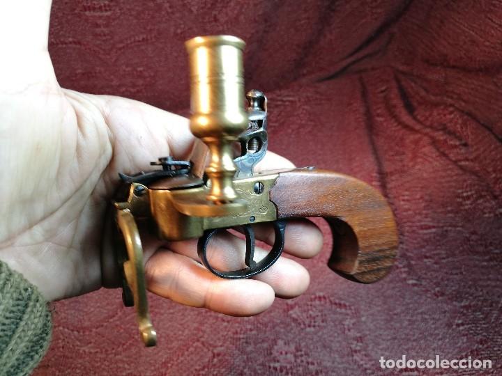 Militaria: pistol Flintlock Tinder Lighter-PISTOLA LAMPARA MECHERO CANDELABRO ITALY SIGLO XX-REF-CV - Foto 41 - 158941178