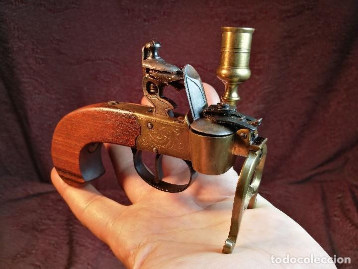 Militaria: pistol Flintlock Tinder Lighter-PISTOLA LAMPARA MECHERO CANDELABRO ITALY SIGLO XX-REF-CV - Foto 43 - 158941178