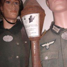 Militaria: PANZERFAUST ALEMAN ORIGINAL COMPLETO PERO TOTALMENTE INERTE. Lote 159110942