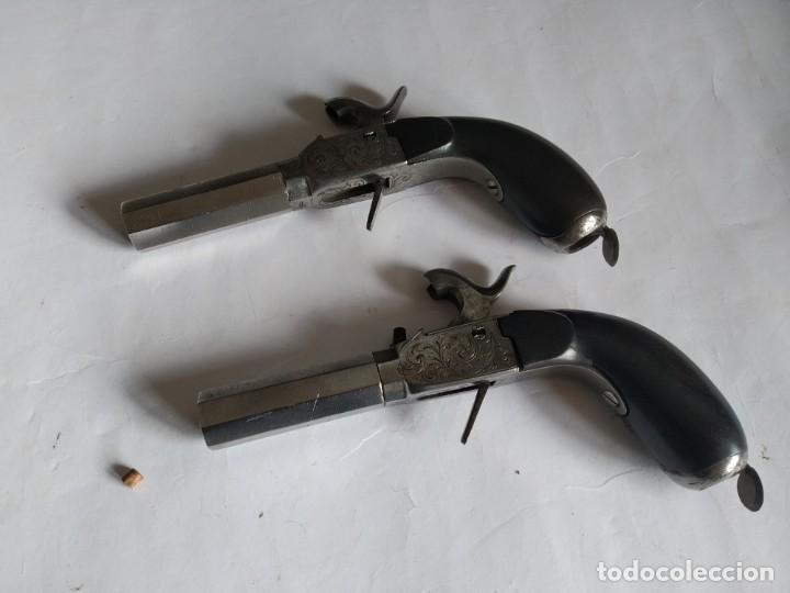 Militaria: Pareja de pistolas de Liége Boxlock de 1840 en caja. - Foto 9 - 159231650