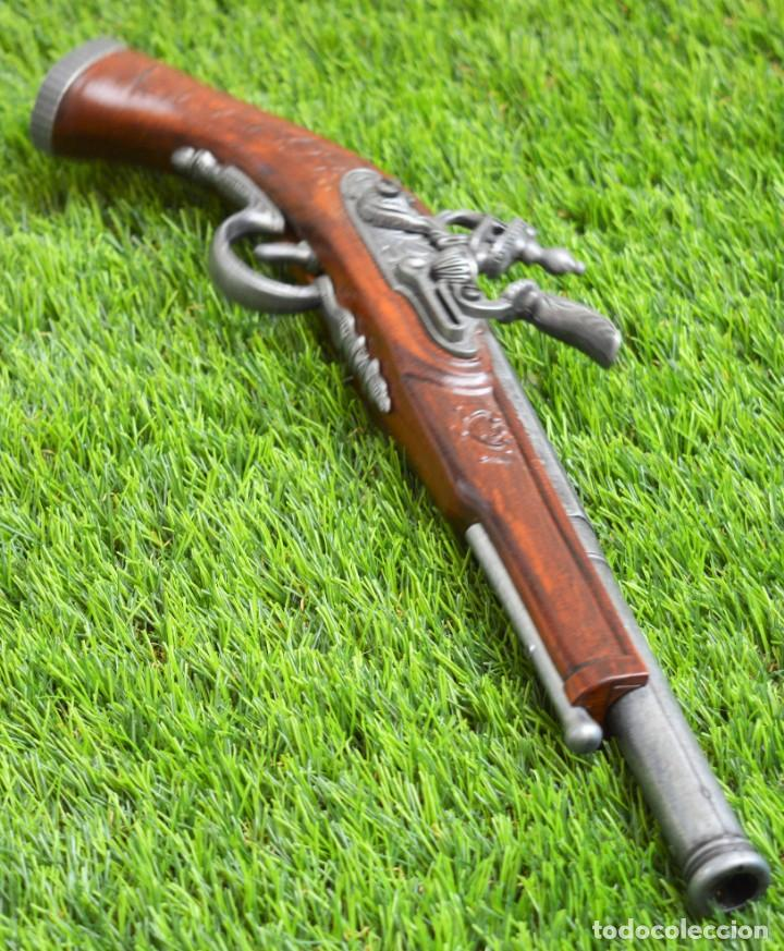 Militaria: Replica Pistola Avancarga - Mosquete De Pedernal - Chispa Flintlock Hadley 1760 London - Foto 3 - 161792602