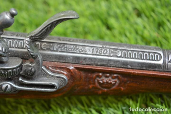Militaria: Replica Pistola Avancarga - Mosquete De Pedernal - Chispa Flintlock Hadley 1760 London - Foto 5 - 161792602