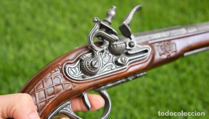 Militaria: Replica Pistola Avancarga - Mosquete De Pedernal - Chispa Flintlock Hadley 1760 London - Foto 8 - 161792602