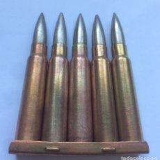 Militaria: PEINE CARGADOR 5 CARTUCHOS 7,65 X 54 MAUSER GUERRA CIVIL ESPAÑOLA. INERTE. Lote 163946649