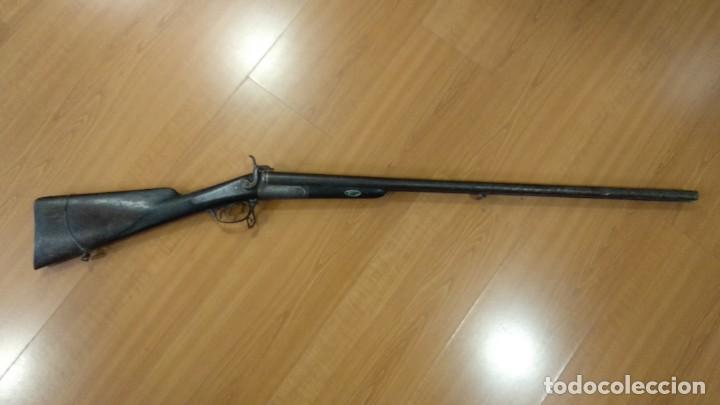 Militaria: Antigua y preciosa escopeta inutilizada por el tiempo de Placencia 1866 grabada - Foto 4 - 165351918