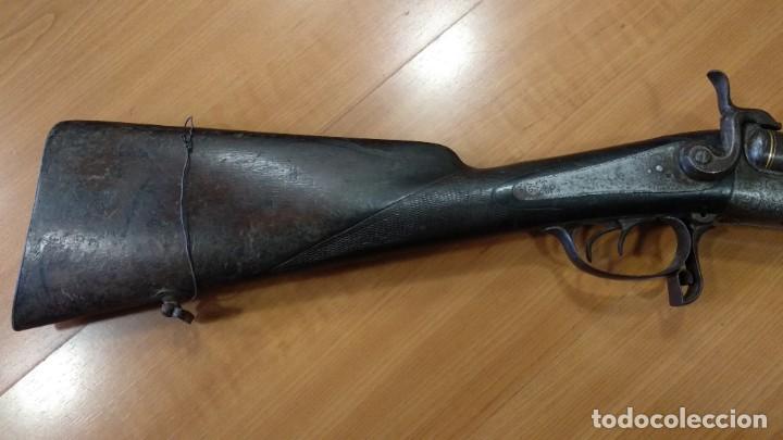 Militaria: Antigua y preciosa escopeta inutilizada por el tiempo de Placencia 1866 grabada - Foto 9 - 165351918