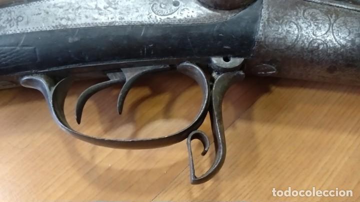 Militaria: Antigua y preciosa escopeta inutilizada por el tiempo de Placencia 1866 grabada - Foto 11 - 165351918