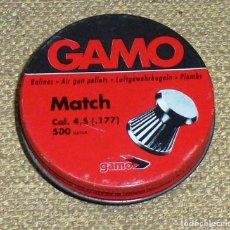 Militaria: CAJA METALICA - BALINES GAMO MATCH.. Lote 166850346