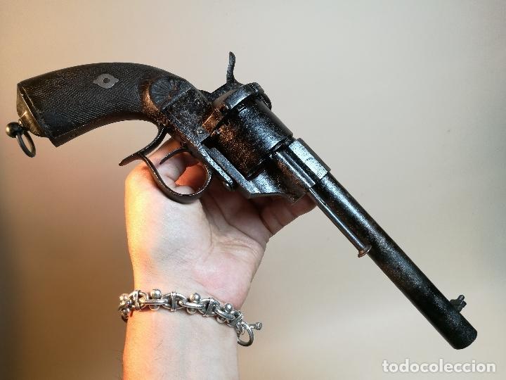 REVOLVER MILITAR REGLAMENTARIO 1858 LEFAUCHEUX-ANTONIO LIZUNDIA EIBAR -ESPAÑA -SIGLO XIX --- REF CV (Militar - Armas de Fuego de Avancarga y Complementos)