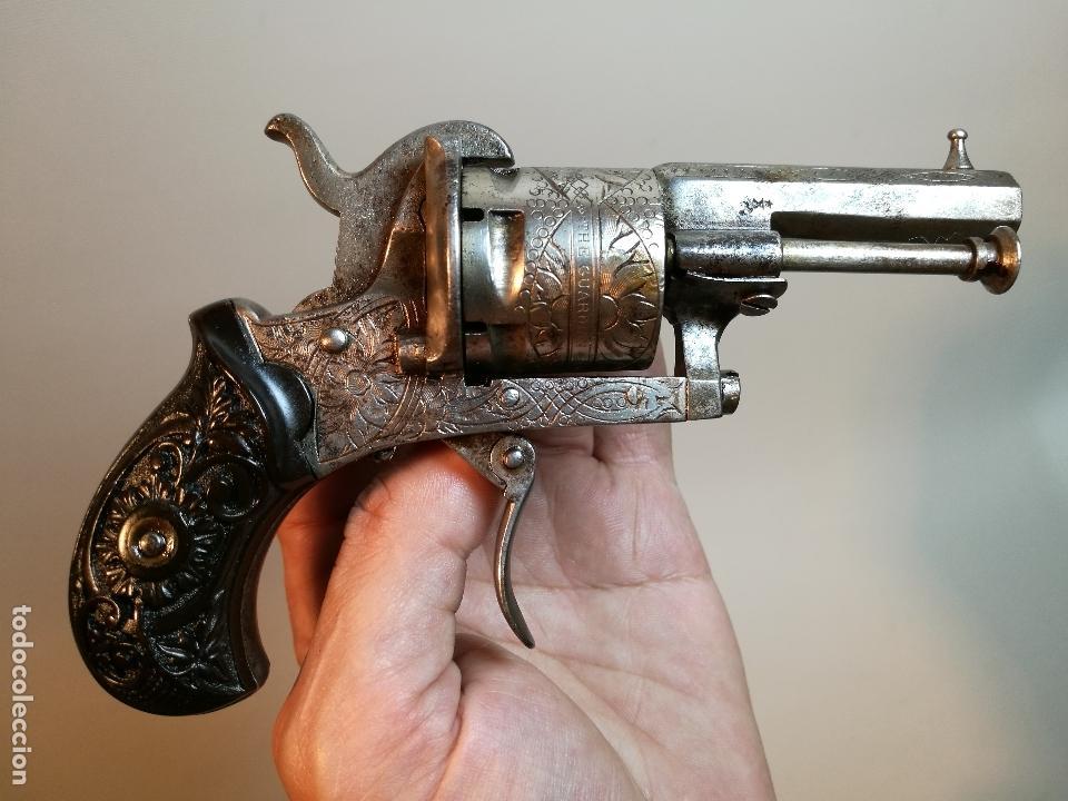 EXQUISITO Y PEQUEÑO REVOLVER LEFAUCHEUX THE GUARDIAN & AMERICAN MODEL 1878 --REF-CV (Militar - Armas de Fuego de Avancarga y Complementos)