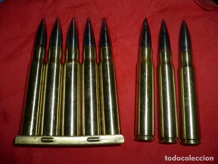 8 CARTUCHOS PERFORANTES 7,92 MARCAJE CHECOSLOVACO. (Militar - Cartuchería y Munición)