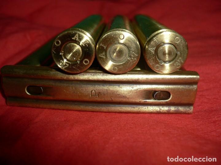 Militaria: Peine de cartuchos completo 7,92 X 57 marcaje Alemán exclusivos para GCE. Año 1937 . INERTES - Foto 2 - 168608520
