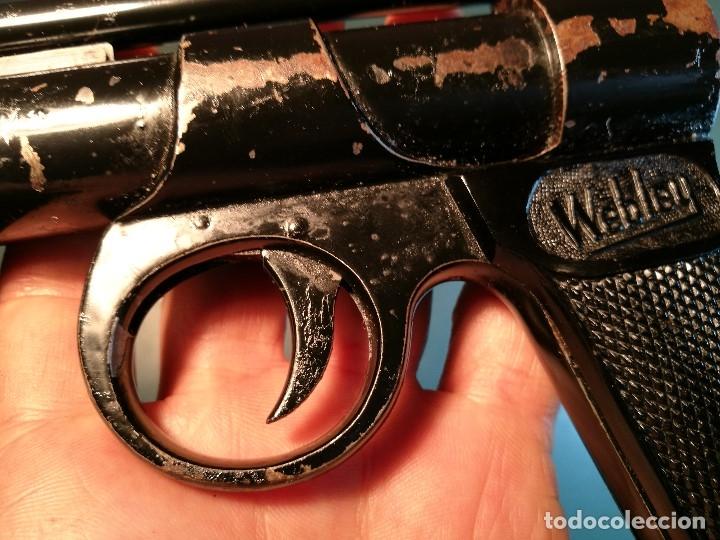 Militaria: PISTOLA AIRE COMPRIMIDO POR MUELLE- Webley Junior .177 Air Pistol (1952-1958) - REF-CV - Foto 12 - 169814152