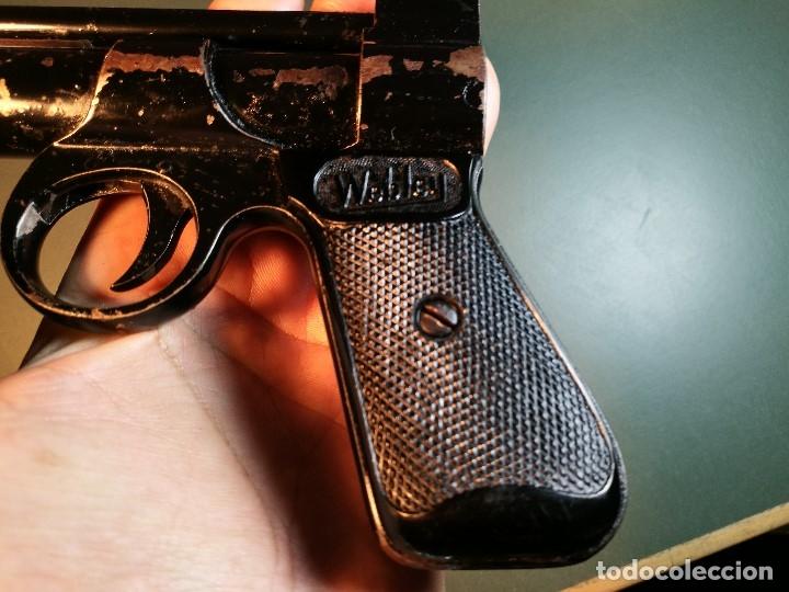 Militaria: PISTOLA AIRE COMPRIMIDO POR MUELLE- Webley Junior .177 Air Pistol (1952-1958) - REF-CV - Foto 23 - 169814152