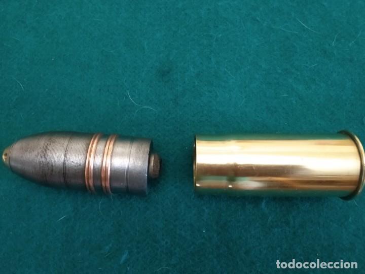 Militaria: Disparo completo,37 mm ametralladora Maxim nordenfelt, usado en el acorazado España en la GC, inerte - Foto 3 - 171604514