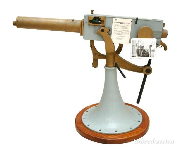 Militaria: Disparo completo,37 mm ametralladora Maxim nordenfelt, usado en el acorazado España en la GC, inerte - Foto 9 - 171604514