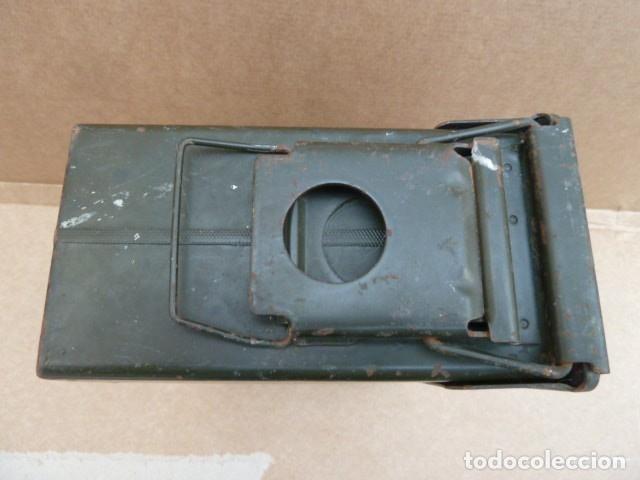 Militaria: Caja de municion metalica, para MG - M 60 - M73. para 200 cartuchos calibre 7,62...con uso.inerte. - Foto 5 - 172131915