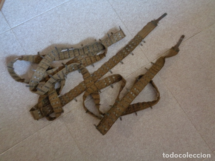 Militaria: cinta tela ametralladora Máxims guerra civil - Foto 2 - 173147003