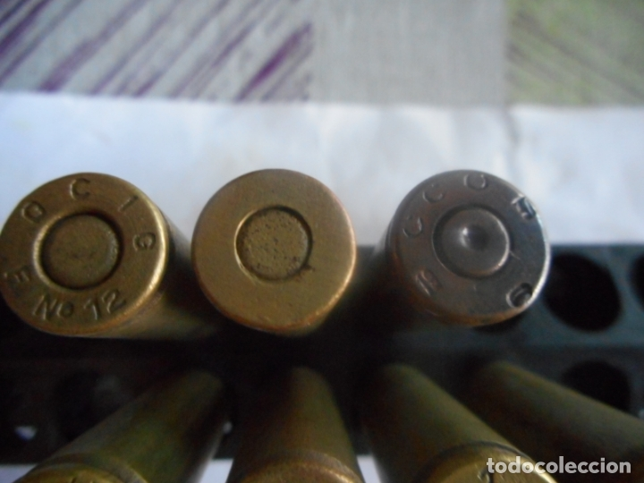 Militaria: gce lote 7 cartuchos 7x57 mauser republicanos inertes - Foto 3 - 173982873