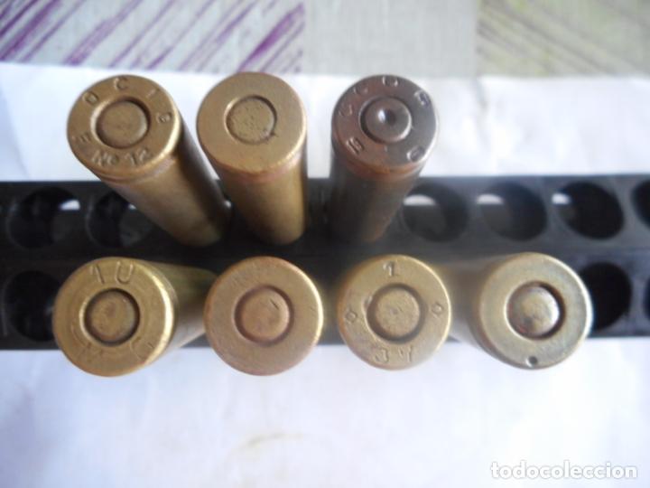 GCE LOTE 7 CARTUCHOS 7X57 MAUSER REPUBLICANOS INERTES (Militar - Cartuchería y Munición)