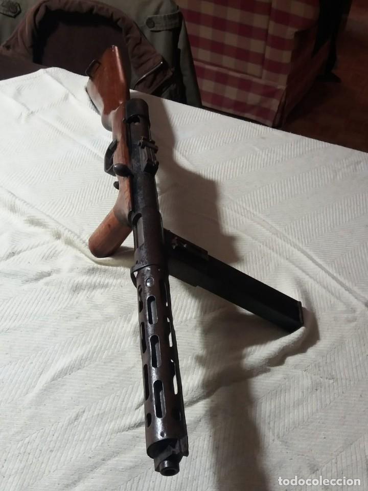 SUBFUSIL AUTOMÁTICO AMETRALLADOR, MODELO CORUÑA, 9MM. (Militar - Armas de Fuego Inutilizadas)