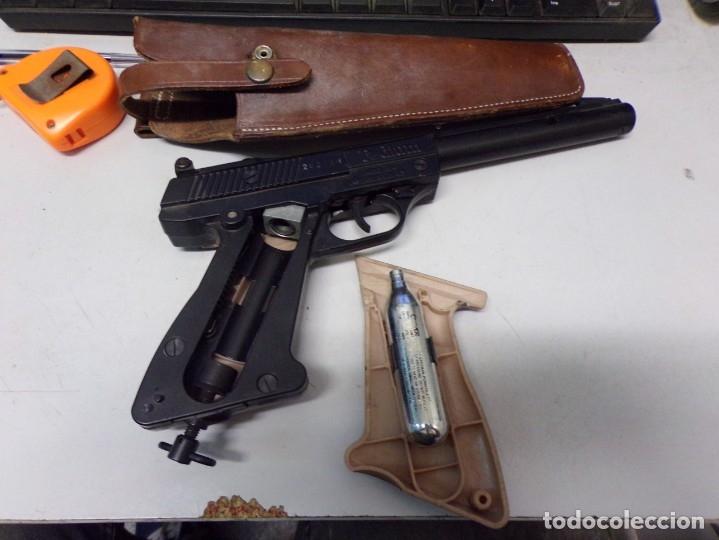 Militaria: pistola podium co2 con cartuchera 4,5mm - Foto 4 - 177582929