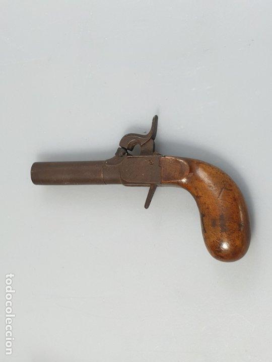 ARMA DE FUEGO SIGLO XIX INGLESA MARCADO CON CONTRASTE (Militar - Armas de Fuego de Avancarga y Complementos)