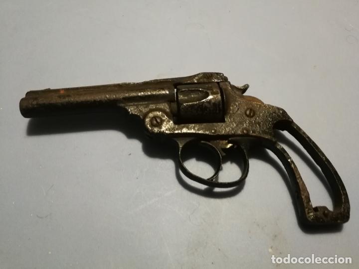 ANTIGUO PEQUEÑO REVOLVER SMITH DE ORBEA HERMANOS EIBAR, INUTILIZADO SIGLO XIX (Militar - Armas de Fuego Inutilizadas)