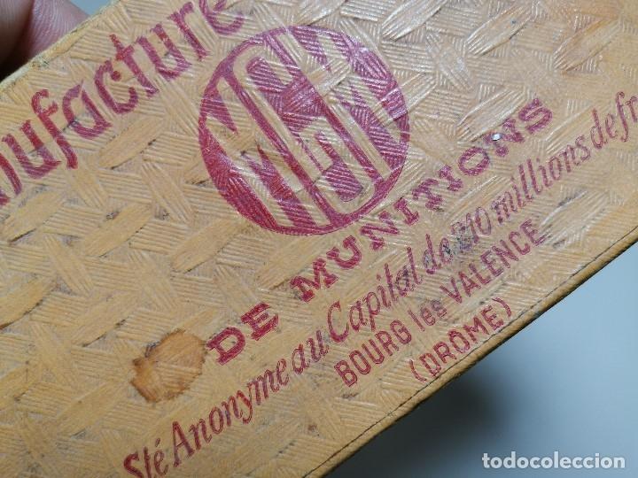 Militaria: CAJA PUBLICITARIA CARTUCHOS DE CAZA 12 MM CARTON MGM-DRÔME-FRANCIA SIGLO XIX CON 9ud.INERTES-VACIOS - Foto 11 - 179001650