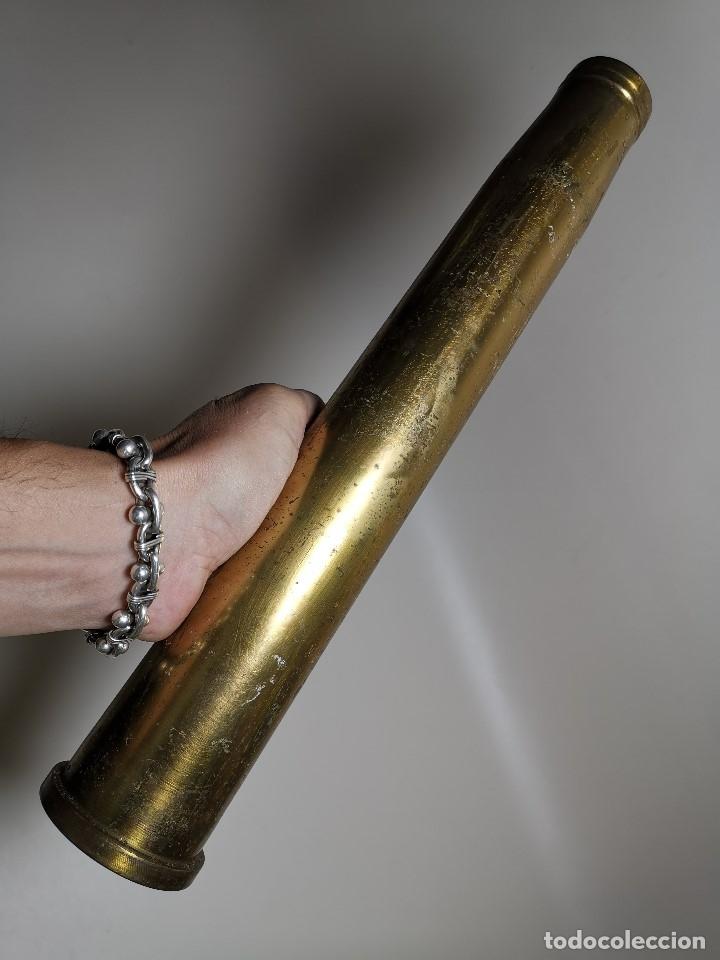 Militaria: Antigua vaina de cañon Bofors 40 mm L/70, OTAN. Explosivos Alaveses, alava--INERTE --REF-CV - Foto 3 - 179332542