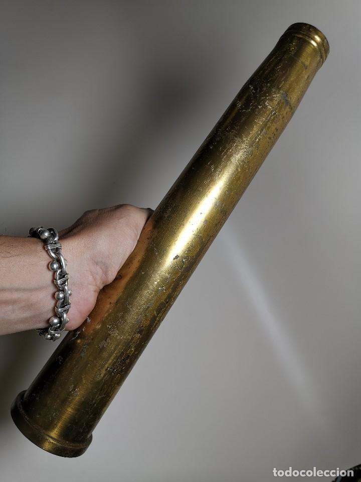 Militaria: Antigua vaina de cañon Bofors 40 mm L/70, OTAN. Explosivos Alaveses, alava--INERTE --REF-CV - Foto 4 - 179332542