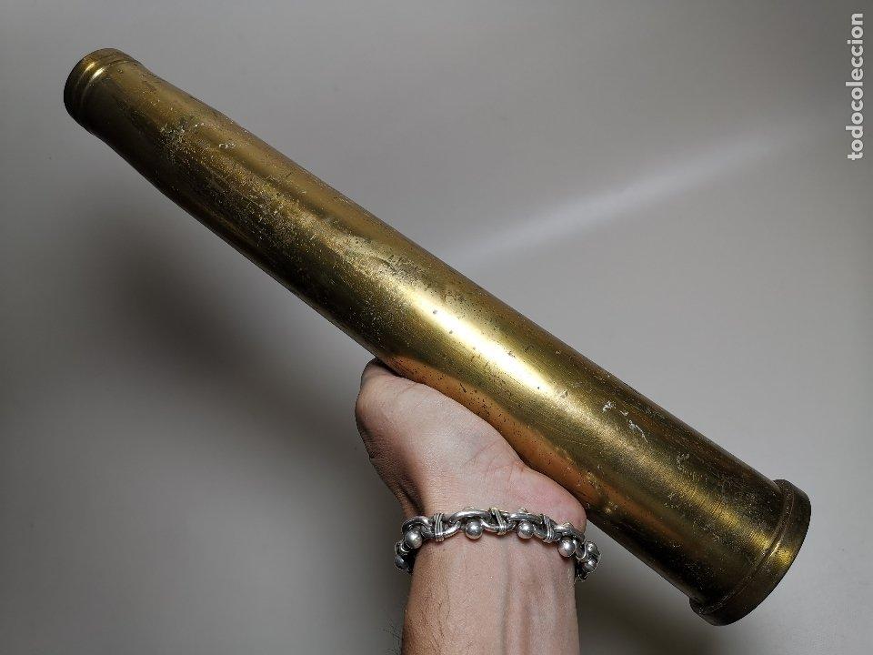 ANTIGUA VAINA DE CAÑON BOFORS 40 MM L/70, OTAN. EXPLOSIVOS ALAVESES, ALAVA--INERTE --REF-CV (Militar - Cartuchería y Munición)