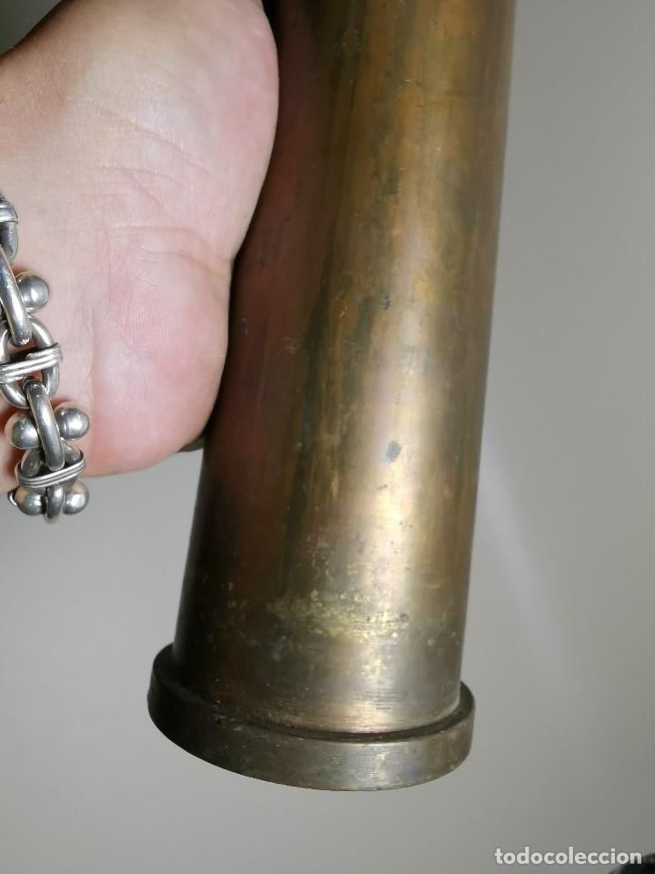 Militaria: Antigua vaina de cañon Bofors 40 mm L/70, OTAN. Explosivos Alaveses, alava--INERTE --REF-CV - Foto 5 - 179332605