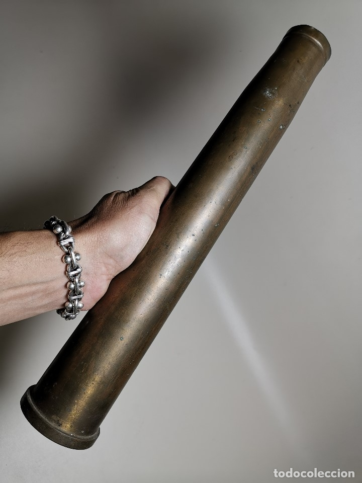 Militaria: Antigua vaina de cañon Bofors 40 mm L/70, OTAN. Explosivos Alaveses, alava--INERTE --REF-CV - Foto 8 - 179332605