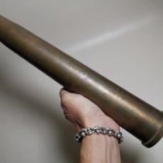 Militaria: ANTIGUA VAINA DE CAÑON BOFORS 40 MM L/70, OTAN. EXPLOSIVOS ALAVESES, ALAVA--INERTE --REF-CV. Lote 179332605