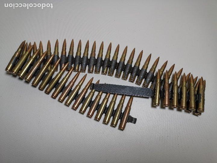 CINTA ARTICULADA PARA AMETRALLADORAS MG-42 O MG-3. ALEMANIA . -50 CARTUCHOS--INERTE --REF-CV (Militar - Cartuchería y Munición)
