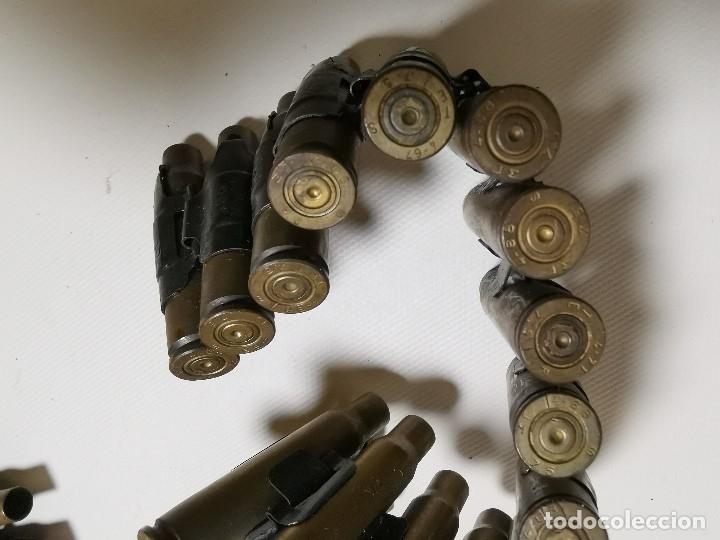 Militaria: Cinta articulada para ametralladoras FRANCESA AA52 NF-1 de 7,62 mm. -45 CARTUCHOS--INERTE --REF-CV - Foto 5 - 179333676