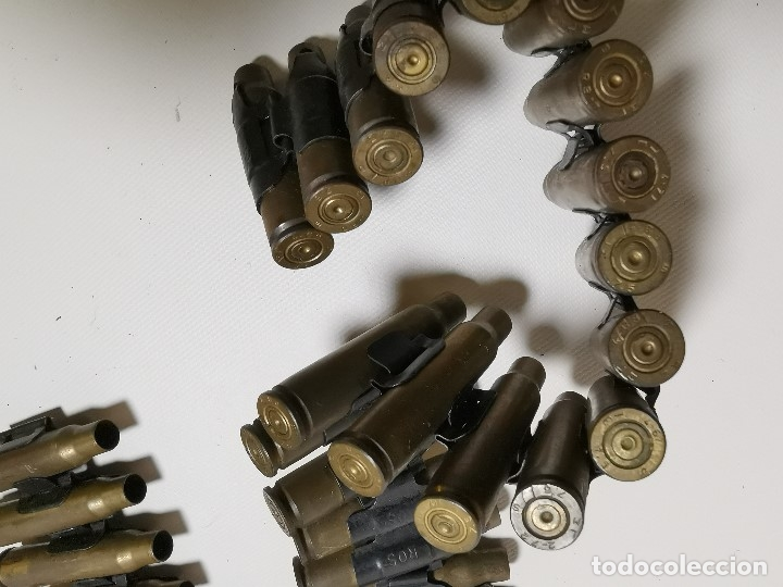 Militaria: Cinta articulada para ametralladoras FRANCESA AA52 NF-1 de 7,62 mm. -45 CARTUCHOS--INERTE --REF-CV - Foto 7 - 179333676