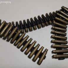 Militaria: CINTA ARTICULADA PARA AMETRALLADORAS FRANCESA AA52 NF-1 DE 7,62 MM. -45 CARTUCHOS--INERTE --REF-CV. Lote 179333676