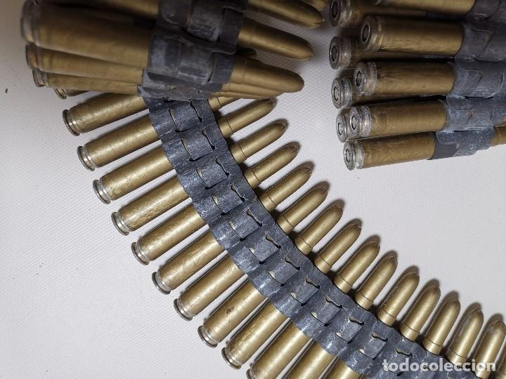 Militaria: Cinta articulada para ametralladoras 7,62 mm.MARCAJE PV -82 CARTUCHOS INSTRUCCION --INERTE --REF-CV - Foto 3 - 179334572