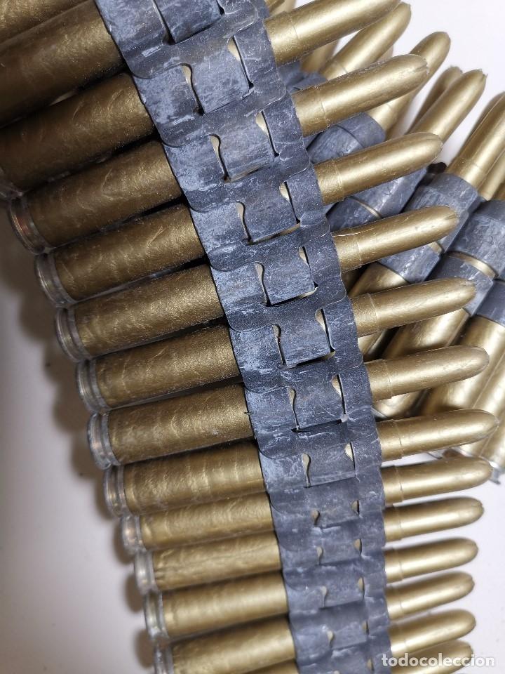 Militaria: Cinta articulada para ametralladoras 7,62 mm.MARCAJE PV -82 CARTUCHOS INSTRUCCION --INERTE --REF-CV - Foto 4 - 179334572