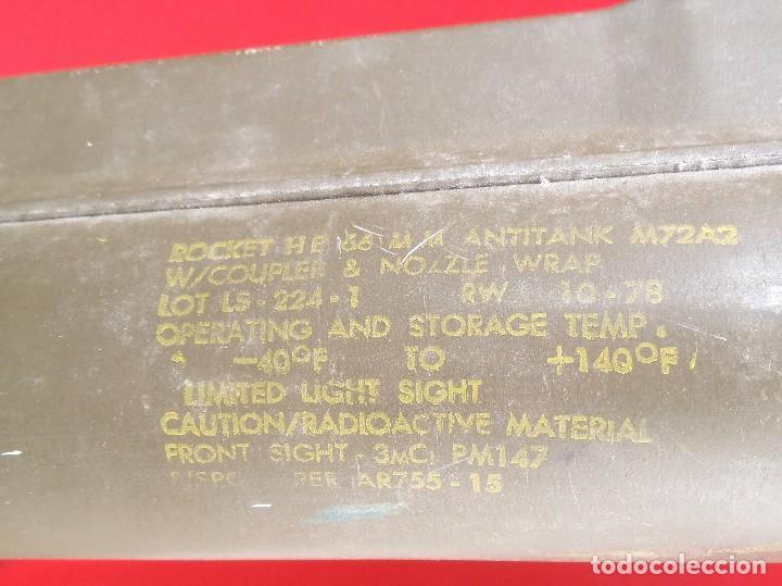 Militaria: Lanzacohetes antitanque desechable modelo M-72A2 Inerte - Foto 2 - 183388237