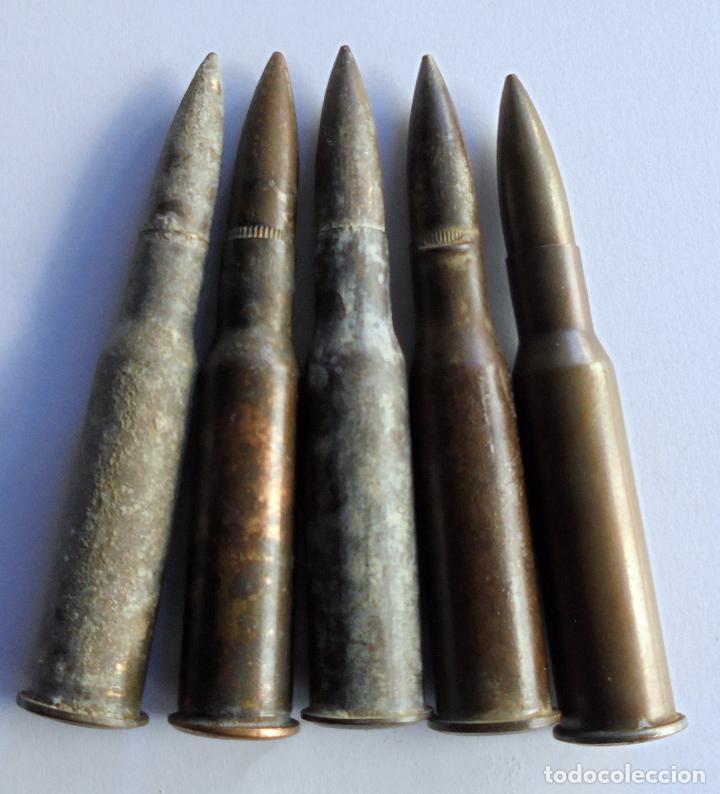 Militaria: CARTUCHOS 7,62 X 54R RUSO.DIFERENTES MARCAJES ,GUERRA CIVIL ESPAÑOLA.INERTES - Foto 2 - 185697971