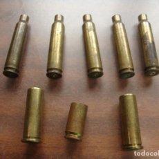Militaria: 8 CARTUCHOS VACIOS DE DISTIMPO TIPO LOS DE LA FOTO. Lote 186068567