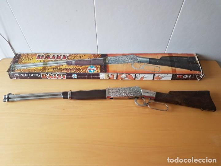 Militaria: RIFLE DAISY - WINCHESTER - COIBEL - CON CAJA - Foto 3 - 186440180