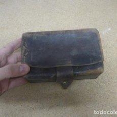 Militaria: ANTIGUA CARTUCHERA DE CUERO DE LA GUERRA CIVIL, ORIGINAL.. Lote 187205688