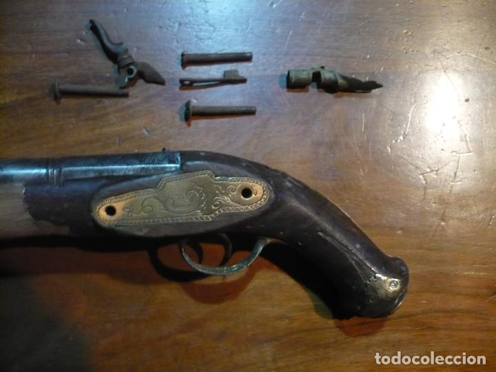 Militaria: Pistola de Ripoll de pistón a medio restaurar, todas las piezas de la misma arma - Foto 4 - 189579736