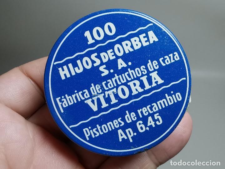 Militaria: caja de 100 pistones hijos de orbea precintada llena-pistones ap 6,45 - Foto 3 - 189759000