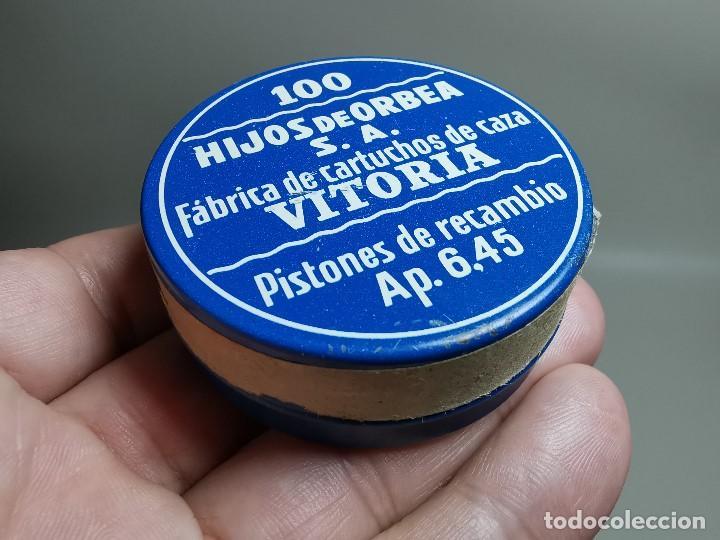 Militaria: caja de 100 pistones hijos de orbea precintada llena-pistones ap 6,45 - Foto 5 - 189759000