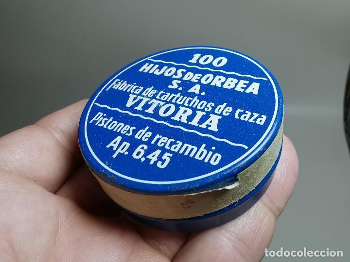 Militaria: caja de 100 pistones hijos de orbea precintada llena-pistones ap 6,45 - Foto 12 - 189759000